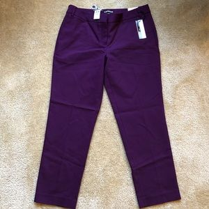 Express Pants - NWT Express Editor Ankle Low Rise Purple 6R Pants